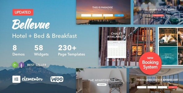 Bellevue v3.2.6 - Hotel + Bed and Breakfast Booking Calendar Theme