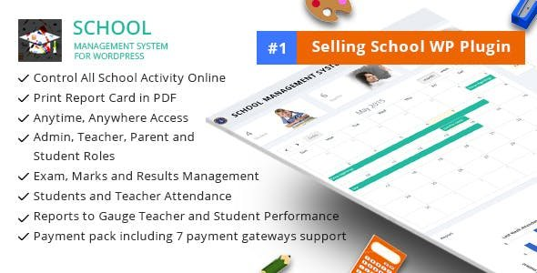 School Management System for Wordpress v63.0