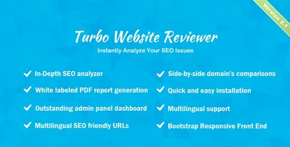 Turbo Website Reviewer v2.1 - In-depth SEO Analysis Tool
