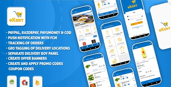 eCart v2.0.9 - Grocery, Food Delivery, Fruits & Vegetable store, Full Android Ecommerce App