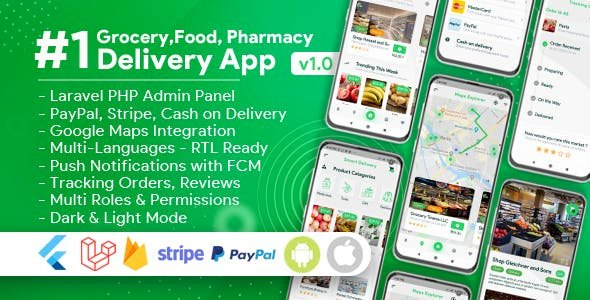 Grocery Food Pharmacy v1.8.0 - Store Delivery Mobile App with Admin Panel