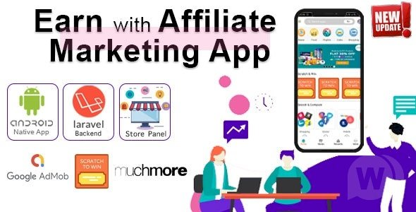 Affiliate Marketing app with PHP Backend v1.3 - Earn with All in one app