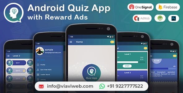 Android Quiz App with Reward Ads v1.1 - Quiz, Lucky Wheel, Earn Point, LeaderBoard, Lucky Spin