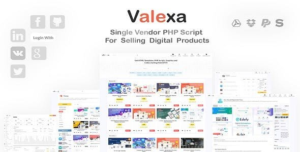 Valexa v1.2.1 - PHP Script For Selling Digital Products And Digital Downloads