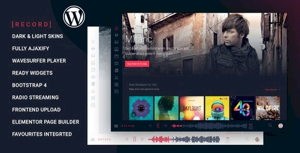 Rekord v1.3.7 - Ajaxify Music - Events - Podcasts Multipurpose WordPress Theme