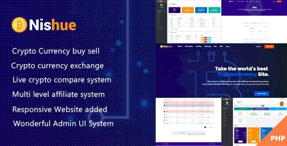 Nishue v3.9 - CryptoCurrency Buy Sell Exchange and Lending with MLM System | Live Crypto Compare