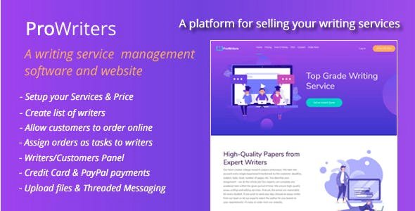 ProWriters v1.6 - Sell writing services online
