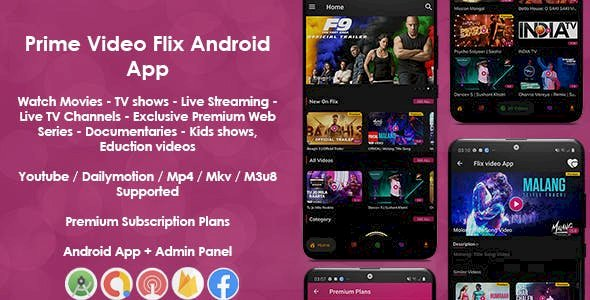 Prime Video Flix App v8.1 - Movies - Shows - Live Streaming - TV - Web Series - Premium Subscription Plan