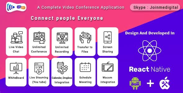 JoinMe Video Conference Tool (Android + iOS + Web APP + Desktop APP)