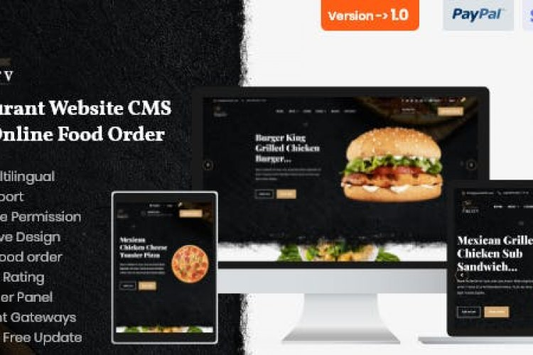Superv v1.0 - Restaurant Website CMS & Management System with Food Order
