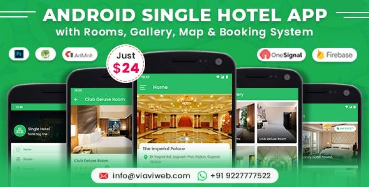 Android Single Hotel v3.0.0 - Application with Rooms, Gallery, Map & Booking System