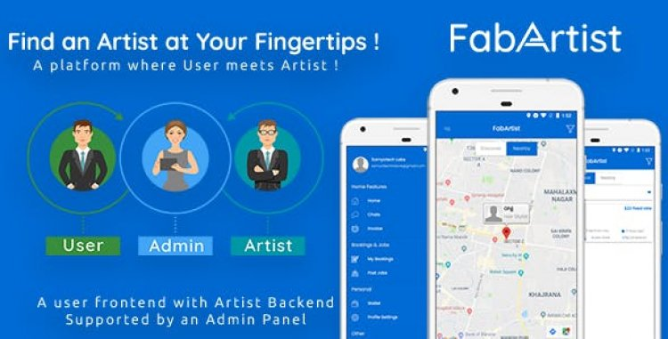 Hire for Work v1.1.8 - Fab Artist Android | 2 Apps | Customer App + Artist App + Admin Panel | Freelancer