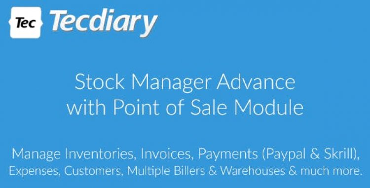 Stock Manager Advance with Point of Sale Module v3.4.44 Preinstalled