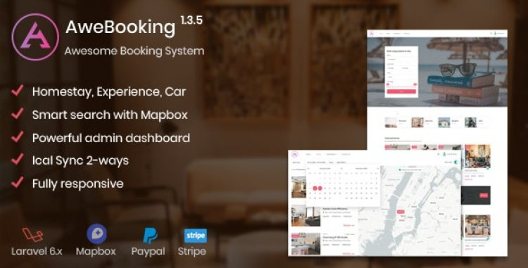 AweBooking v1.3.5 – Awesome Booking System