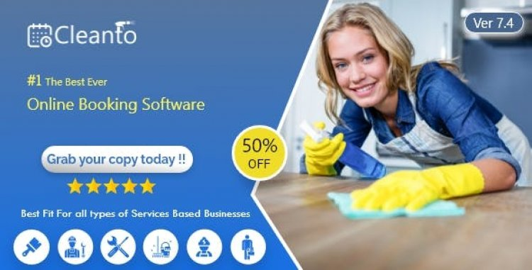 Cleanto v7.4 - Online bookings management system for maid services and cleaning companies