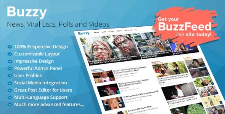 Buzzy v4.5.0 - News, Viral Lists, Polls and Videos