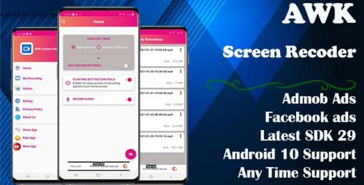 AWK Screen Recorder with Audio (Android 10 supported) v1.0