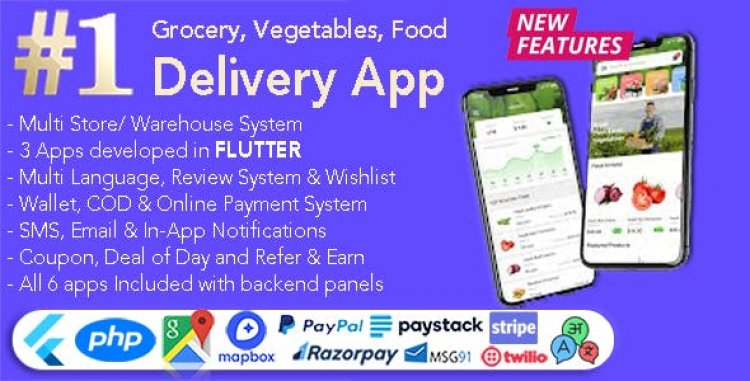 GoGrocer v1.6.10 - Grocery, Vegetable & Food Delivery App | 6 Apps with PHP Backend