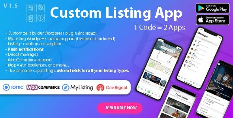 Custom Listing App v1.6.1 - Directory Android and iOS mobile app with Ionic 5 for MyListing ListingPro