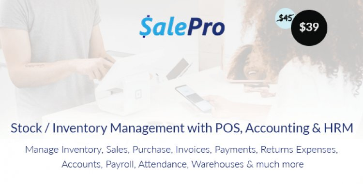 SalePro v3.5.1 - Inventory Management System with POS, HRM, Accounting