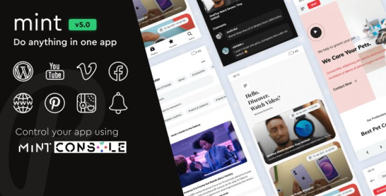 Mint v4.2.0 - WebView & Multi-purpose Android App With Remote Config
