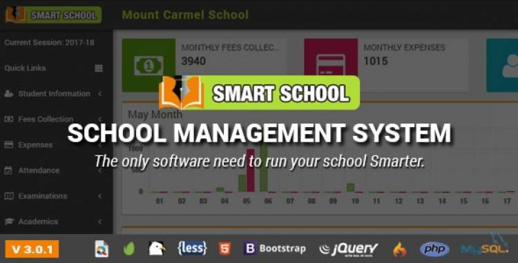 Smart School 3.0.1 - School Management System Pre Installed