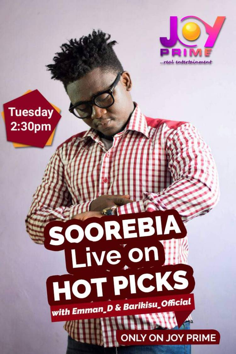 Catch Soorebia Live on Hot Pick (Joy Prime)