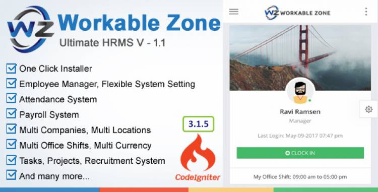 HRM v1.1 - Workable Zone Pre Installed