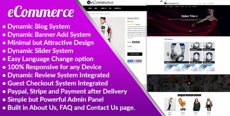eCommerce – Responsive Ecommerce Management System – Codecanyon