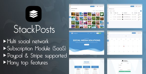 Stackposts v4.4 - A Social Marketing Tool