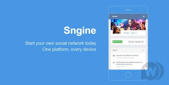 Sngine v2.5.6 NULLED - Social Network Engine