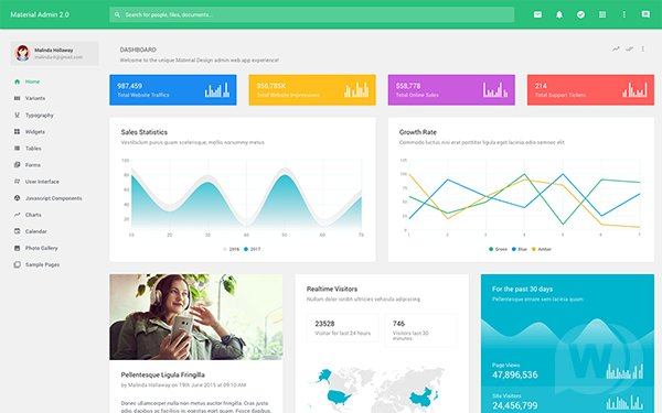 Material Admin v2.6.1 - Material Design Bootstrap admin template