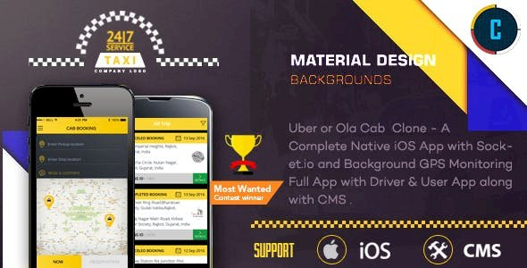Taxi Booking - A Complete Clone of UBER with User,Driver