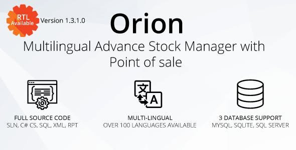 Orion v1.3.1.0 - Multilingual advance stock manager with Point of sale system