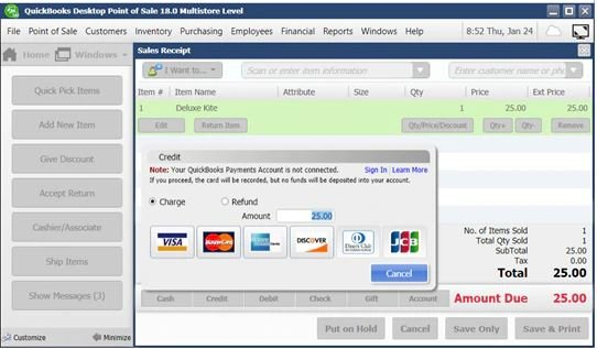 Intuit QuickBooks Point of Sale Pro MultiStore v11.0 R12