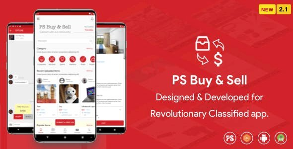 PS BuySell ( Olx, Mercari, Offerup, Carousell, Buy Sell ) Clone Classified App (2.1)