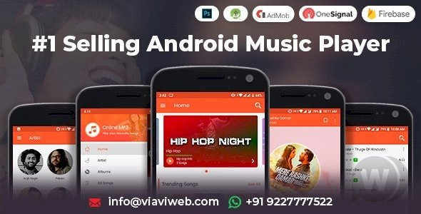 Android Music Player - Online MP3 (Songs) App (25-October-2019)