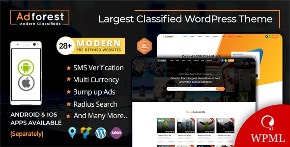 AdForest v4.2.9 - Classified Ads WordPress Theme
