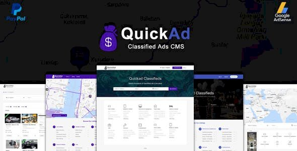 Classified Ads CMS PHP Script - Quickad Classified v8.6