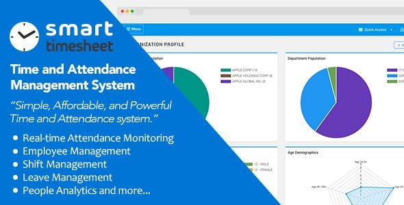 Smart Timesheet v5.1 — Time and Attendance Management System